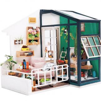 DIY bouwpakket Minihuisje 'Balcony Daydreaming' - Robotime